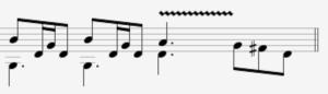 Vibrato Notation Example